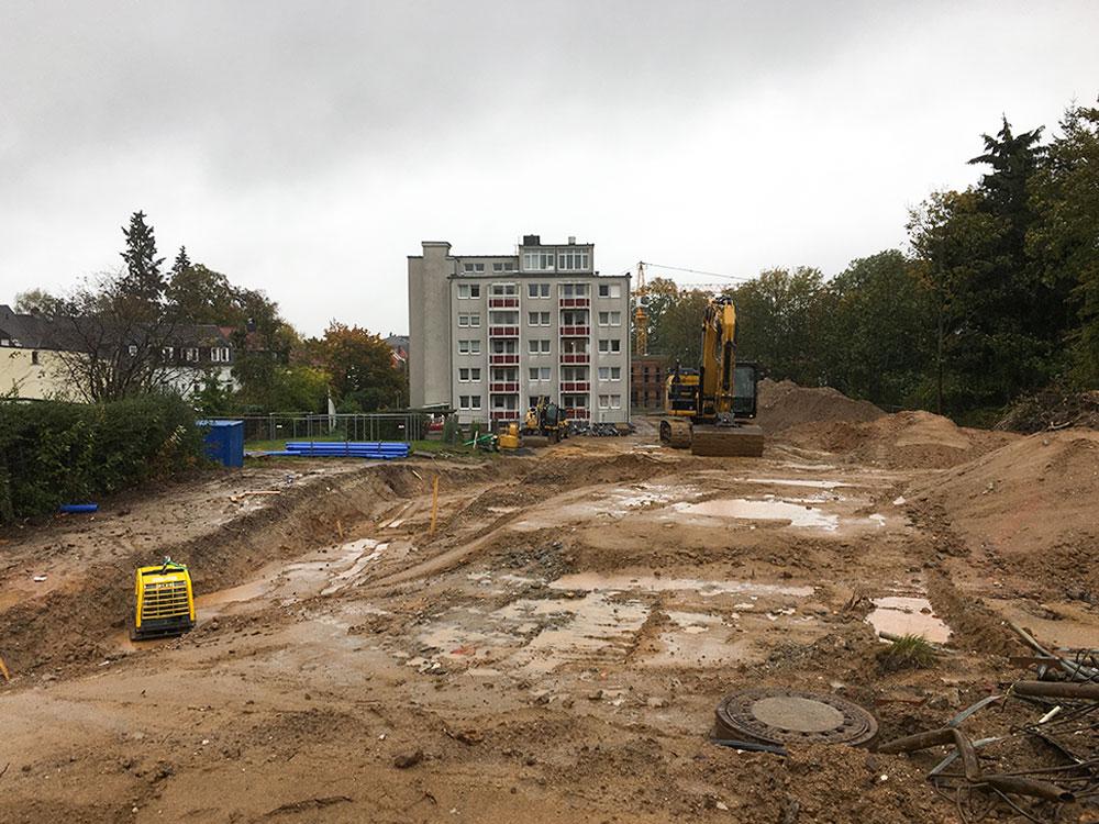 Beginn Erschließungsarbeiten Freiberger Garten
