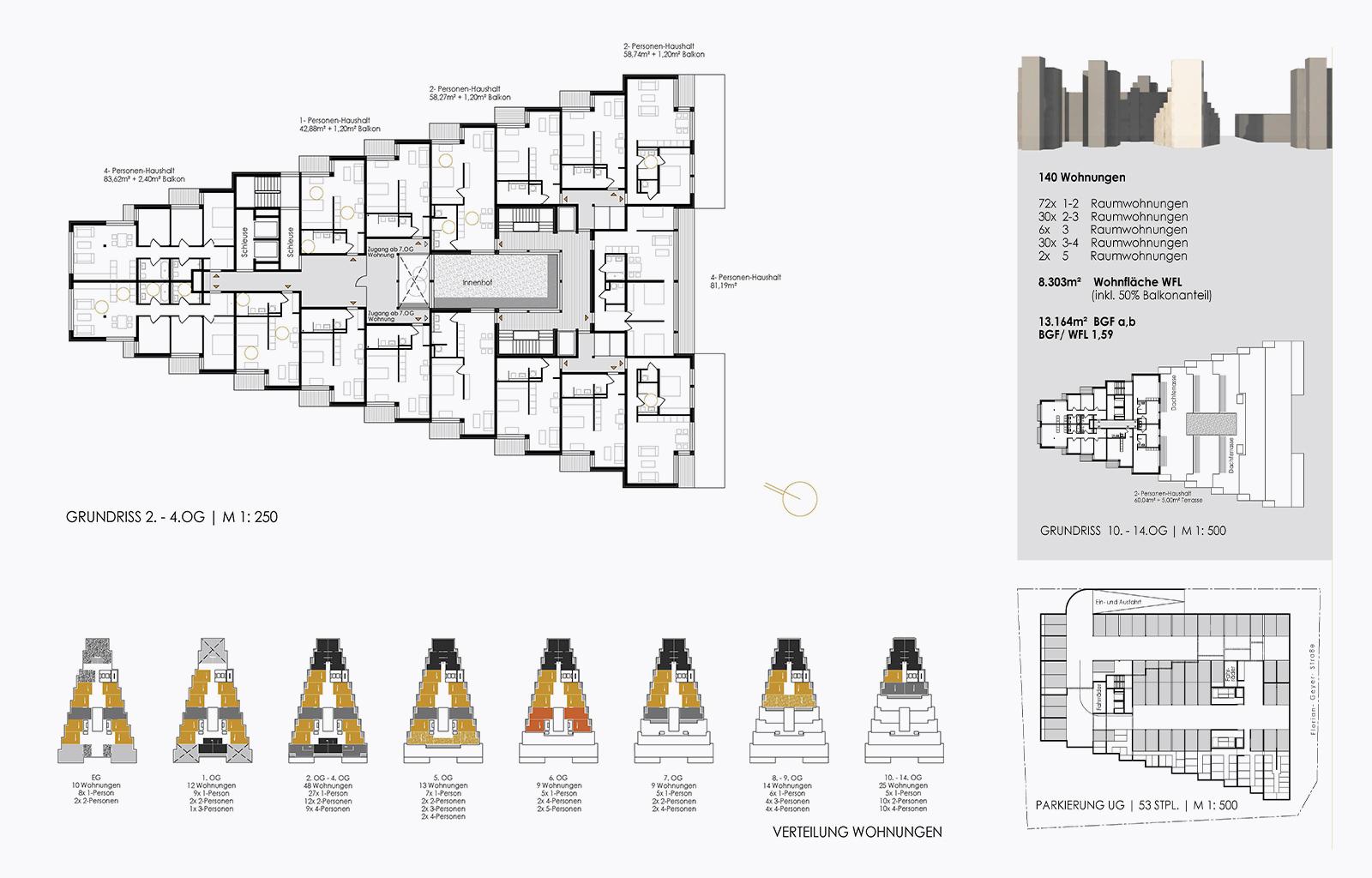 Sozialer Wohnungsbau Dresden *3. Preis
